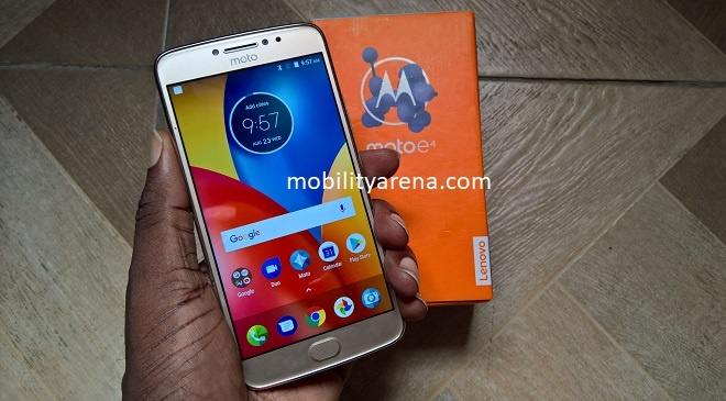 Moto E4 Plus First Impressions in hand over box
