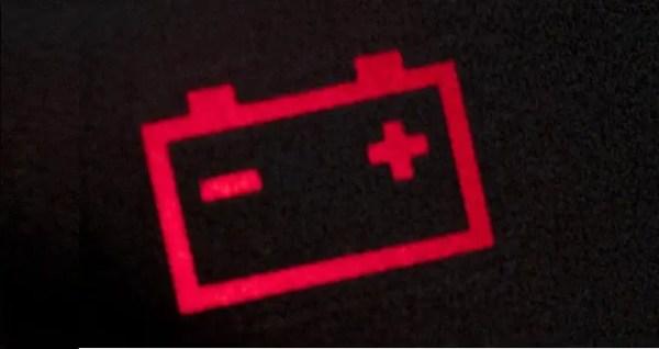 car battery light