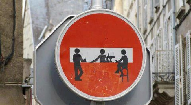 defaced street signs