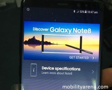 samsung galaxy note 8 hands-on in homescreen featured