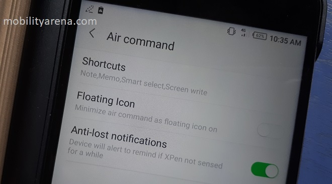 Infinix Note 4 Pro Xpen review air command