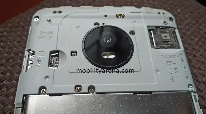 Moto E4 Plus Review back open
