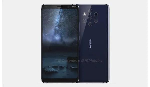 Nokia 9 Pureview specs include five cameras