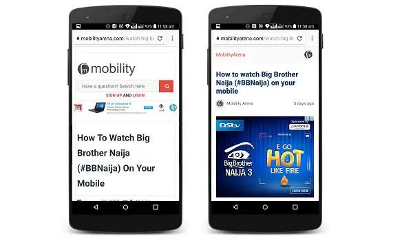 google amp pages mobilityarena