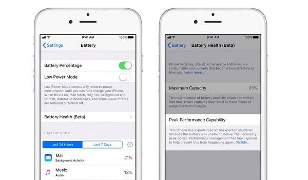turn off or disable iphone throttling