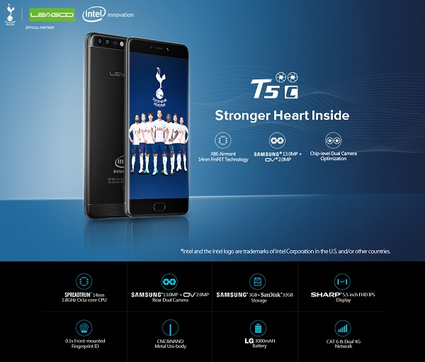 Leagoo T5c stronger heart inside