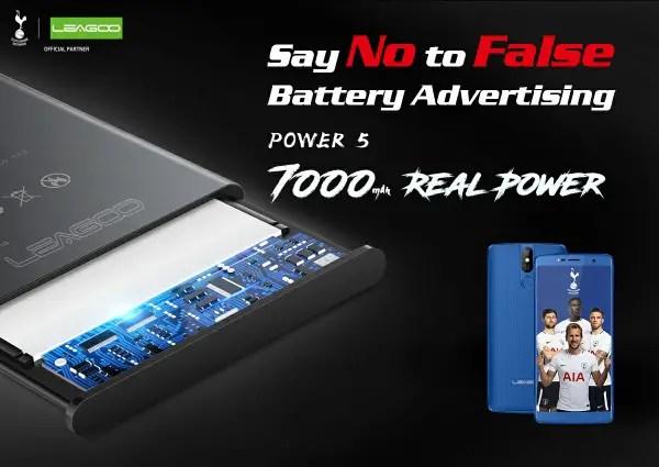 LEAGOO POWER 5 with 7000 mAh battery