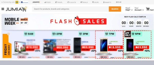 M9 and T5c jumia flash sales