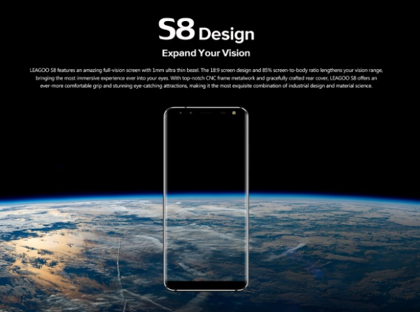 Leagoo S8 hold small, see big
