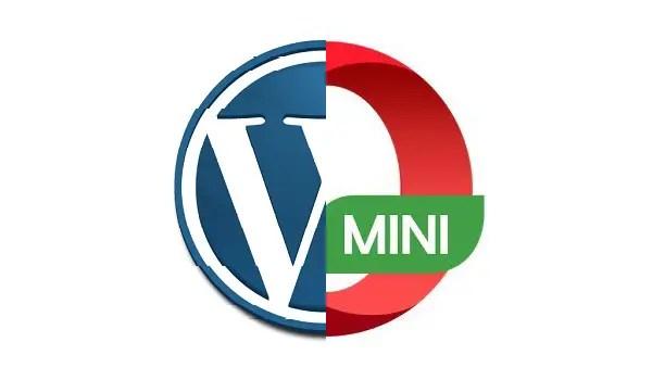 wordpress and opera mini