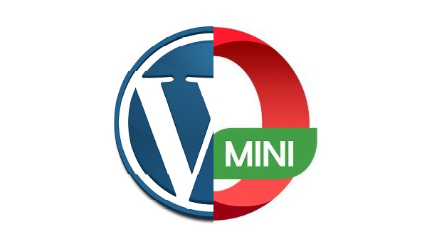 wordpress and opera-mini