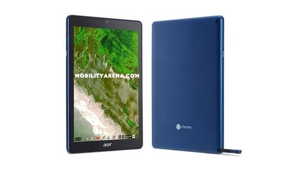 Acer Chromebook Tab 10 running Chrome OS for tablet