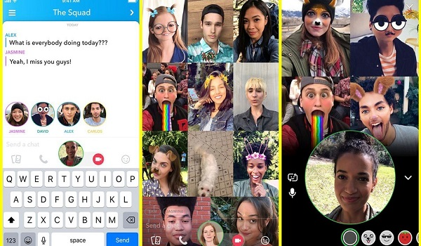 Snapchat Adds Group Video Chat Feature 1