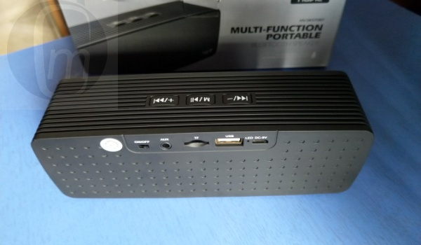 Havit HV-SK570BT Bluetooth portable loudspeaker back ports with box