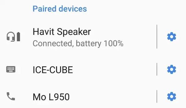 Havit HV-SK570BT Bluetooth loudspeaker battery level indicator