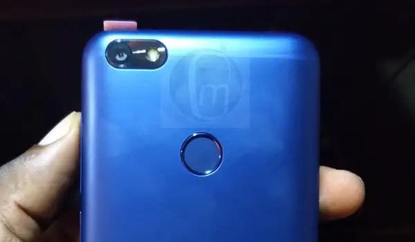 itel a32f fingerprint scanner back camera