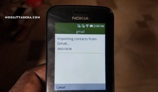 Nokia 8110 4G Review importing gmail contacts