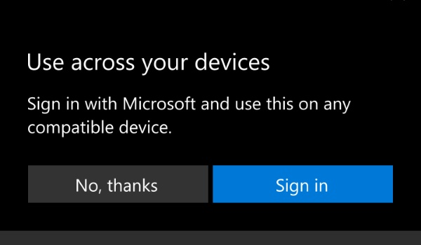 windows phone store use app across your devices