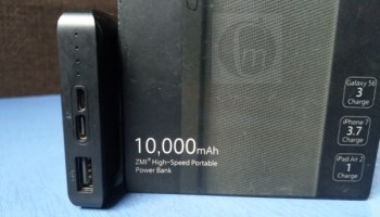 10,000mAh ZMI High-Speed Power Bank Review - ports