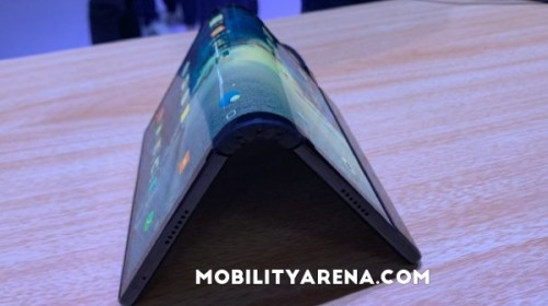 The world's first foldable phone is called FlexPai