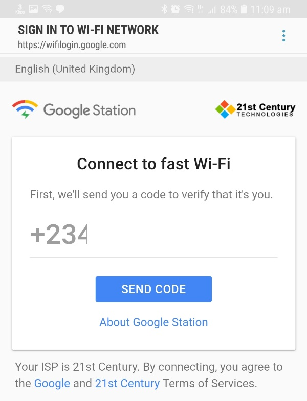 Free Wifi by Google Station portal login