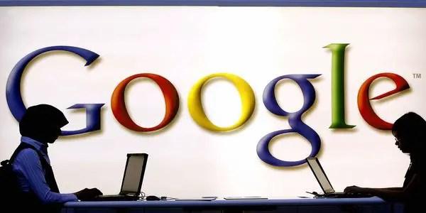 Google logo onscreen