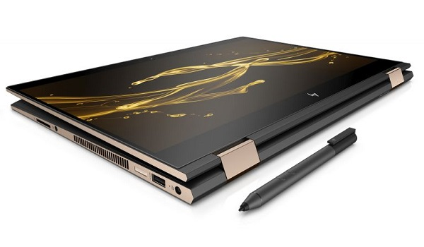 HP Spectre x360 15 2018 convertible notebook with stylus pen
