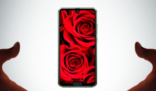 AQUOS R2 compact with two display notches