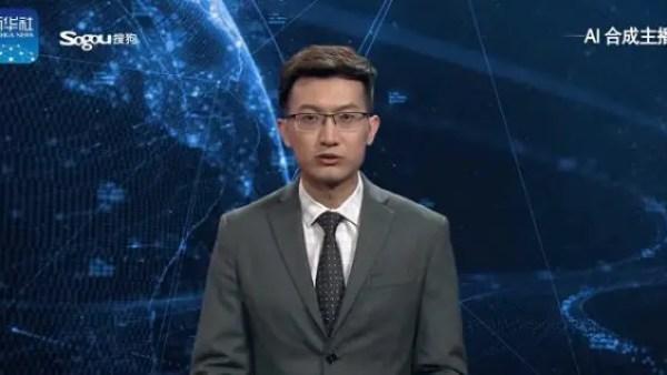 First AI Newscaster