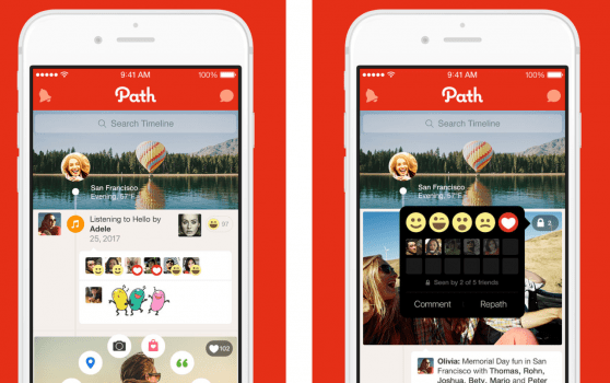 Mobile apps - Path