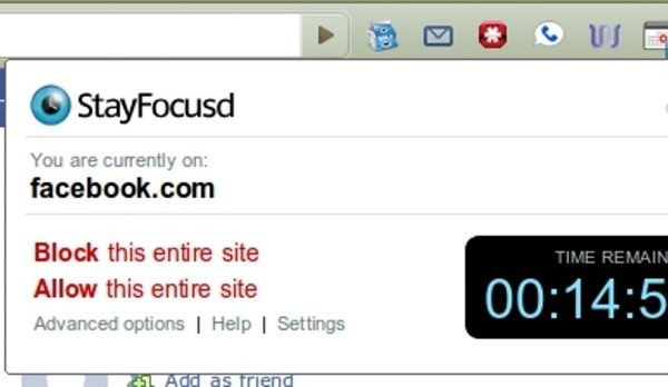 Stay Focused - Chrome Extensions