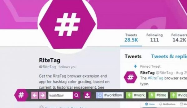 Chrome Extensions: RiteTag