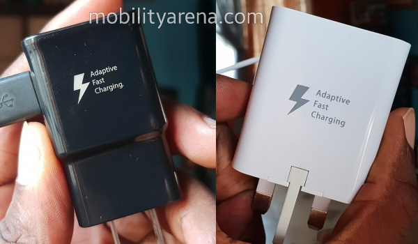 Samsung fast chargers side-by-side