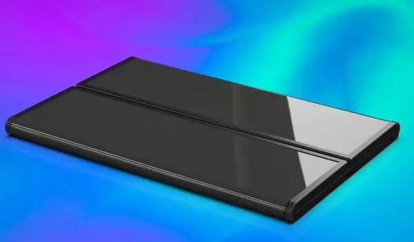 xiaomi foldable phone folded closed up