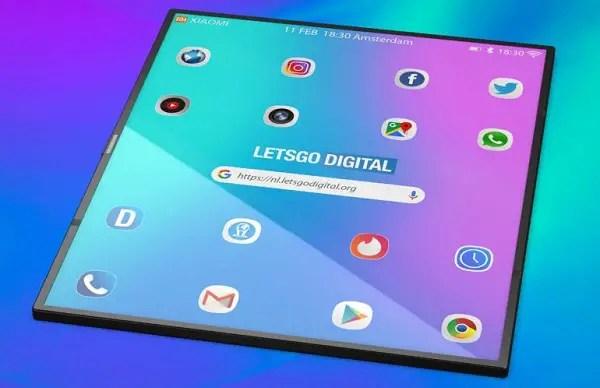 xiaomi foldable phone open