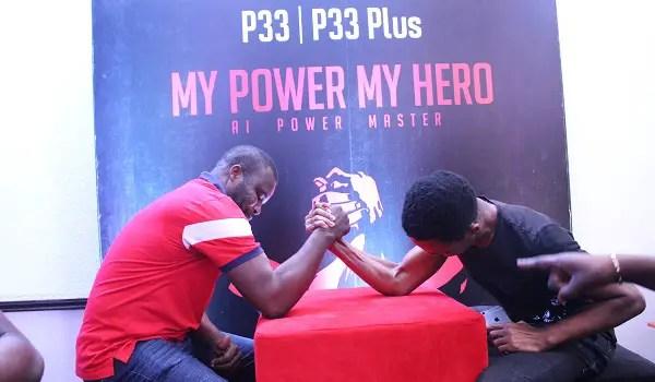 itel P33 and P33 Plus arm wrestling
