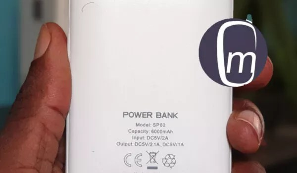 Soda sp60 6000 mah power bank back with fast charging