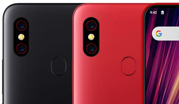 umidigi f1 play red and black colours