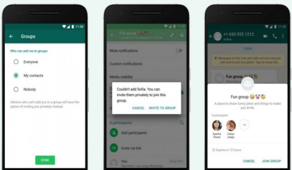 control who can add you to a WhatsApp group