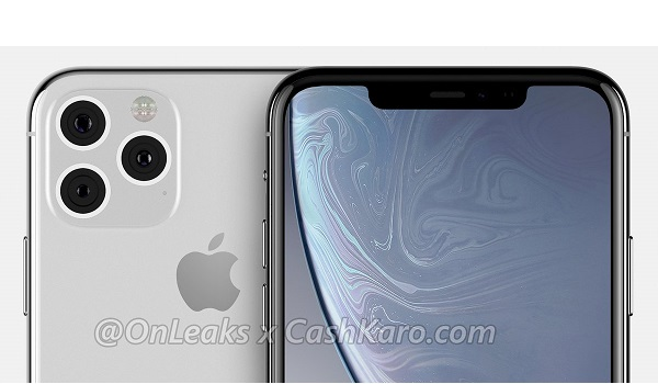 iPhone XI and XI Max with a Triangular Shaped Triple Camera arrangement