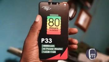itel p33 1 gb RAM mobile phone