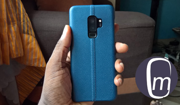 USAMS Joe leather case for Samsung S9 Plus: back view
