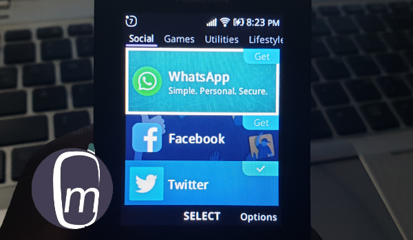 whatsapp and facebook on nokia 8110 4g