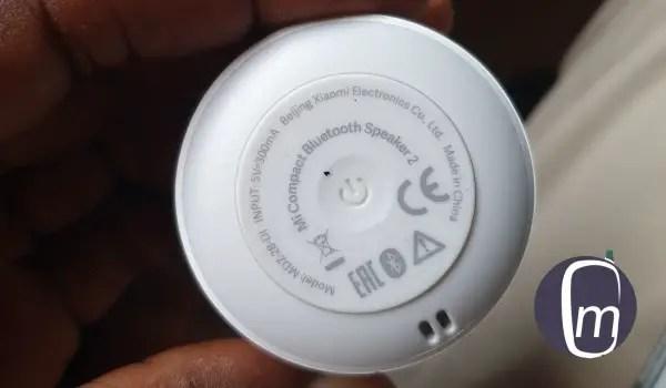 xiaomi mi compact bluetooth speaker 2 review power button