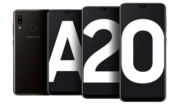 Samsung Galaxy A20 2019 splash