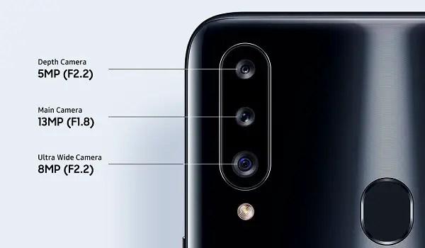 Samsung galaxy a20s triple camera