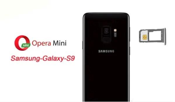 opera mini for Samsung Galaxy S9 plus