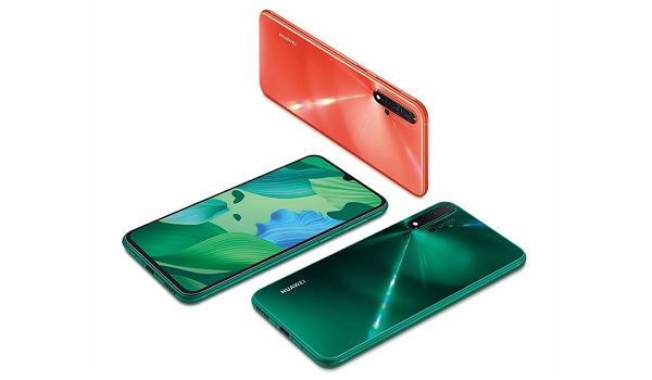 Huawei Nova 5 pro green and orange