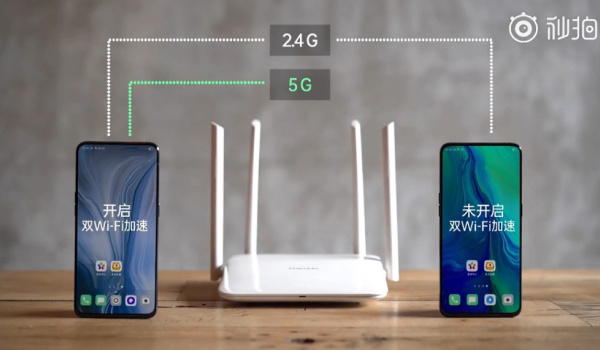 Dual Wi-Fi network acceleration demo by OPPO