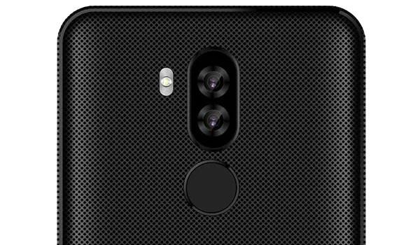 Afrione champion pro rear camera and fingerprint reader